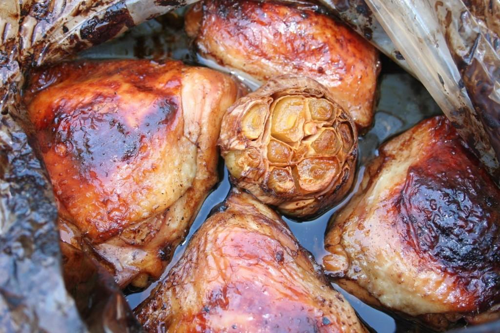 עוף ברוטב סויה ודבש - צילום: שפרה נחום