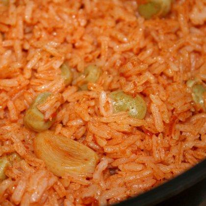 אורז אדום עם פול