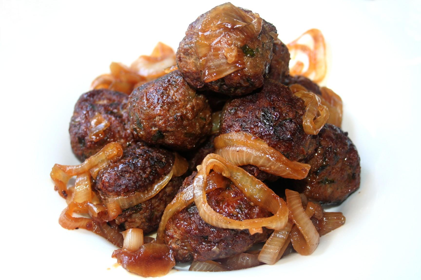 כדורי בשר בטעם מתוק חריף