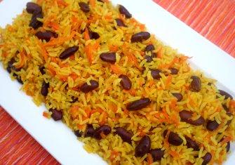 אורז עם שעועית אדומה