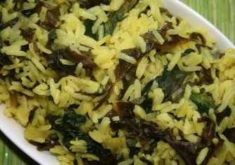 אורז עם תרד בלימון