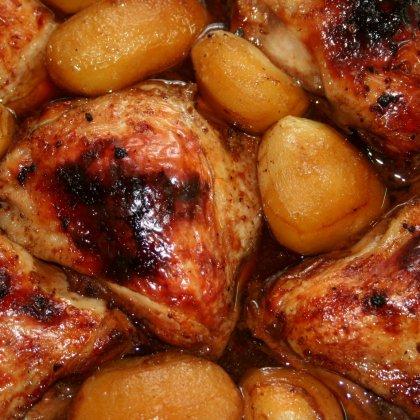 עוף צלוי ברוטב רימונים ודבש
