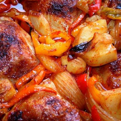 עוף מבולבל בתנור