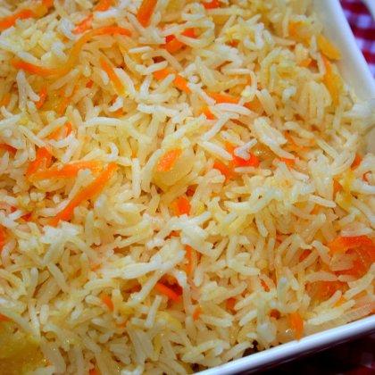 אורז עם גזר וקישואים