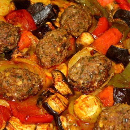 קבב טורקי עם ירקות נימוחים