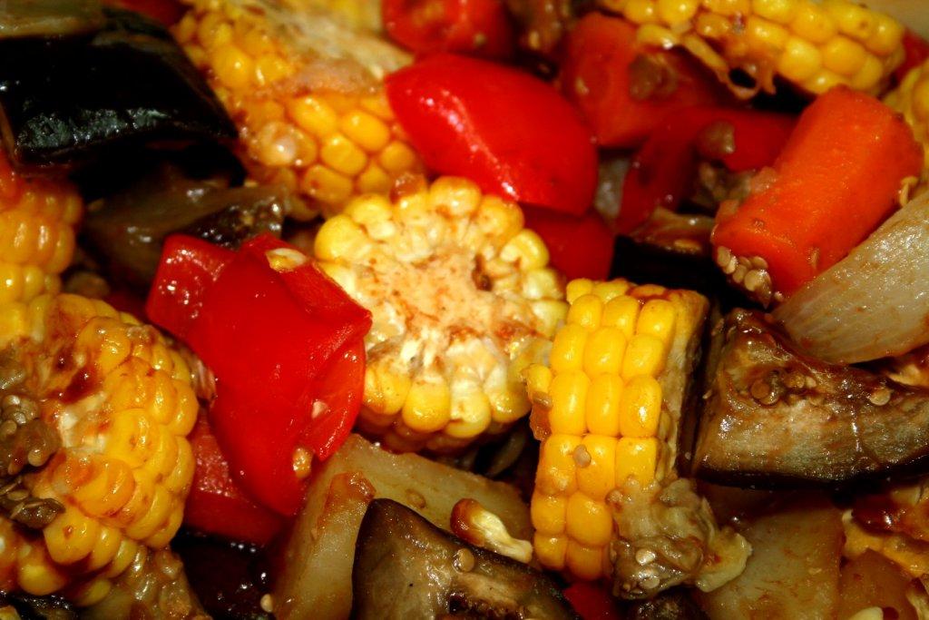 ירקות ברוטב ברבקיו בתנור