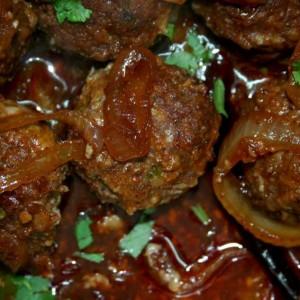 כדורי בשר מקורמלים ללא טיגון