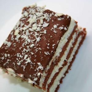 עוגת ביסקוויטים שוקו וניל