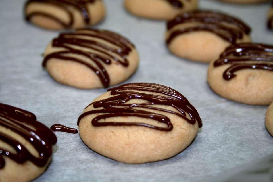עוגיות שוקולד נוגט פרווה