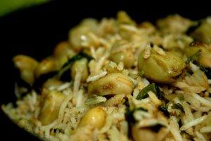 אורז עם פול / פולייה בג'ורה