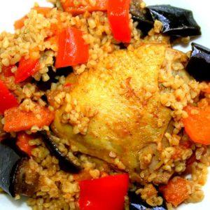 תבשיל עוף עם ירקות ובורגול