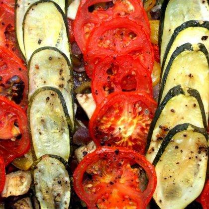 ירקות אפויים בסגנון יווני