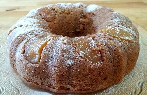 עוגת תפוחים מקורמלים טבעונית