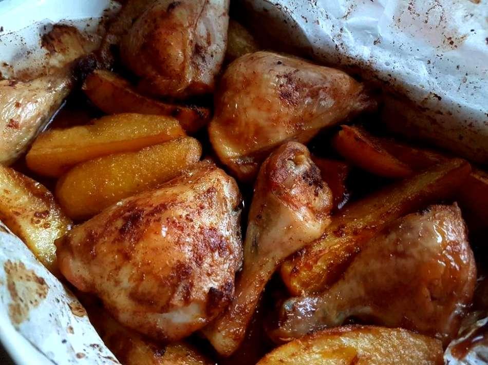 עוף ותפוחי אדמה בטעם גריל