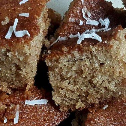 עוגת דבש וקוקוס רכה ואוורירית