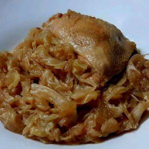תבשיל עוף כרוב ובצל מקורמל