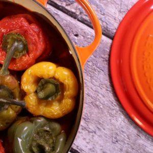 פלפלים ממולאים בבישול איטי