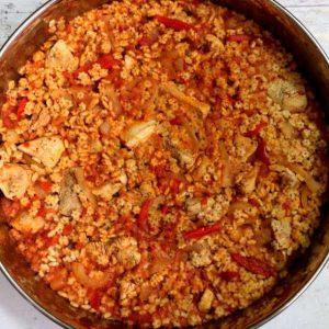 חזה הודו ופתיתים ברוטב אדום בטעם פיצה שילדים אוהבים