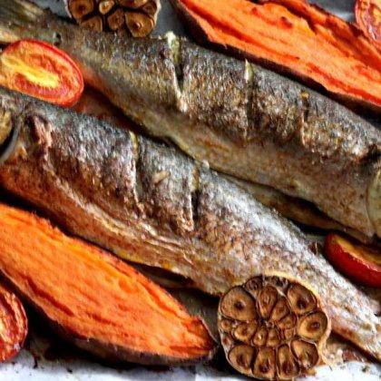 דגי בורי צלויים בתנור