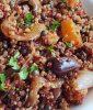 תבשיל קינואה עדשים שחורות דלעת