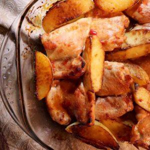 פרגיות וצ'יפס בתנור