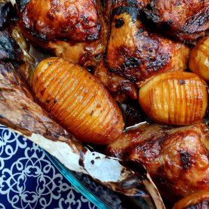 עוף ותפוחי אדמה ברטבים