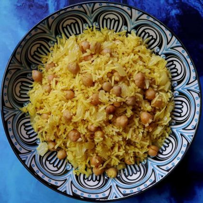אורז בורגול וגרגירי חומוס בסגנון מזרחי