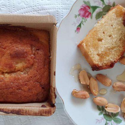 עוגת חמאת בוטנים ודבש בחושה
