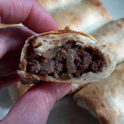 טורטיה אפויה במילוי בשר
