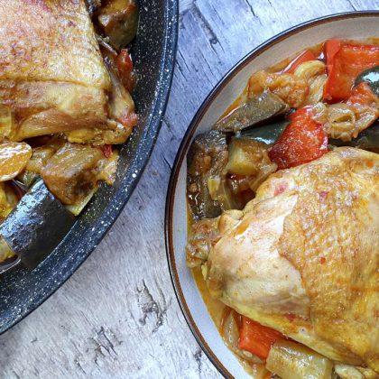 תבשיל עוף וירקות מהמטבח הטורקי